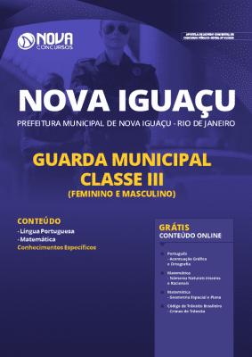 Apostila Prefeitura de Nova Iguaçu 2020 PDF Download Guarda Municipal