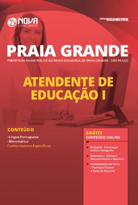 Apostila Prefeitura de Praia Grande 2020 PDF Atendente de Educação