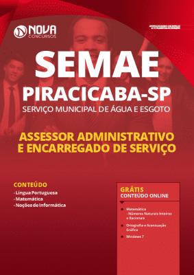 Apostila SEMAE Piracicaba 2020 PDF Assessor Administrativo e Encarregado de Serviço