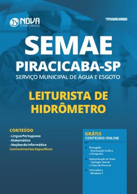 Apostila SEMAE Piracicaba 2020 PDF Leiturista de Hidrômetro
