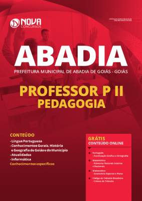 Apostila Prefeitura de Abadia de Goiás 2020 PDF Download Professor Pedagogia