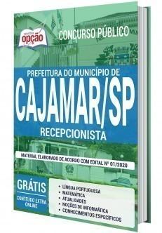 Apostila Concurso Prefeitura de Cajamar 2020 PDF Recepcionista