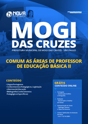 Apostila Concurso Prefeitura de Mogi das Cruzes 2020 Professor de Educação Básica II PDF Download