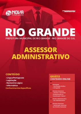 Apostila Prefeitura de Rio Grande 2020 PDF Assessor Administrativo
