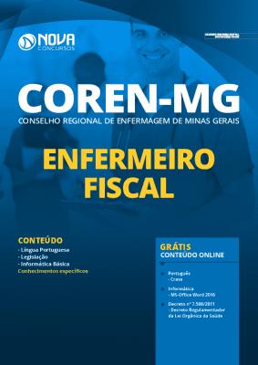 Apostila Concurso COREN MG 2020 PDF Enfermeiro Fiscal Grátis Cursos Online