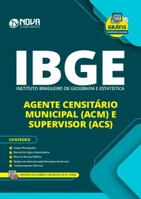 Apostila IBGE 2020 Agente Censitário PDF Grátis Cursos Online