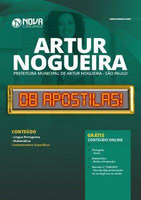 Apostila Prefeitura de Artur Nogueira 2020 PDF Grátis Cursos Online
