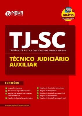 Apostila Concurso TJ SC 2020 PDF Técnico Judiciário Auxiliar