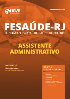 Apostila Concurso FeSaúde Niterói RJ 2020 PDF Download Digital e Impressa Assistente Administrativo