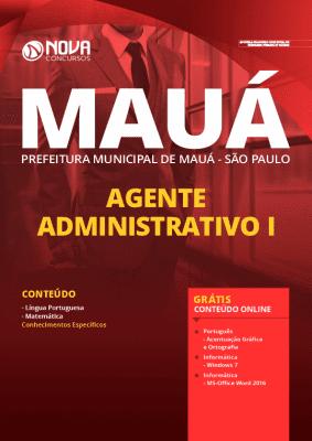 Apostila Prefeitura de Mauá SP 2020 PDF Agente Administrativo Grátis Cursos Online