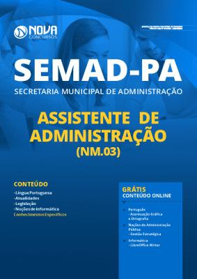 Apostila SEMAD PA 2020 PDF Assistente de Administração