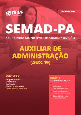 Apostila SEMAD PA 2020 PDF Auxiliar de Administração