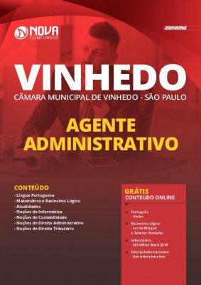 Apostila Câmara de Vinhedo SP 2020 PDF Agente Administrativo