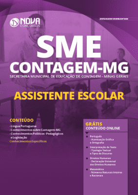 Apostila Concurso SME Contagem MG 2020 PDF Download Digital Assistente Escolar