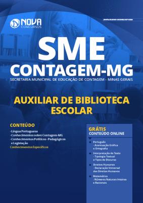 Apostila Concurso SME Contagem MG 2020 PDF Download Digital Auxiliar de Biblioteca Escolar