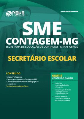 Apostila Concurso SME Contagem MG 2020 PDF Download Digital Secretário Escolar