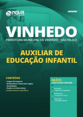 Apostila Concurso Prefeitura de Vinhedo 2020 PDF Auxiliar de Educação Infantil PDF Download Digital
