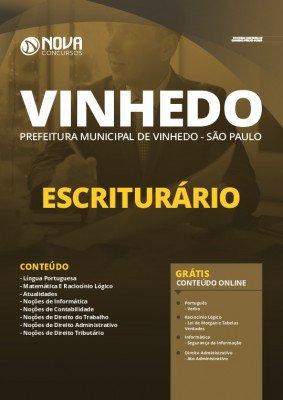 Apostila Concurso Prefeitura de Vinhedo 2020 PDF Escriturário