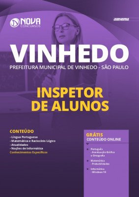 Apostila Prefeitura de Vinhedo 2020 PDF Inspetor de Alunos PDF Download Digital