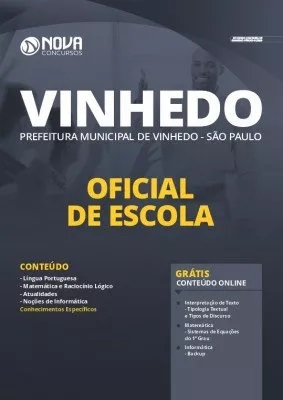 Apostila Prefeitura de Vinhedo 2020 PDF Oficial de Escola PDF Download Digital