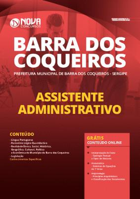 Apostila Concurso Prefeitura de Barra dos Coqueiros 2020 PDF Assistente Administrativo Download PDF Grátis Cursos Online