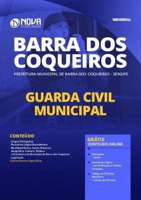 Apostila Concurso Prefeitura de Barra dos Coqueiros 2020 PDF Guarda Civil Municipal Download PDF Grátis Cursos Online