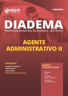 Apostila Concurso Prefeitura de Diadema 2020 PDF Agente Administrativo II PDF Download Digital