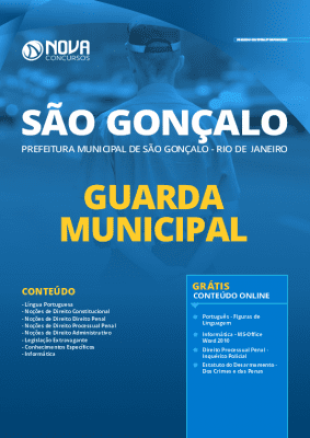 Apostila Prefeitura de São Gonçalo RJ 2020 PDF Guarda Municipal