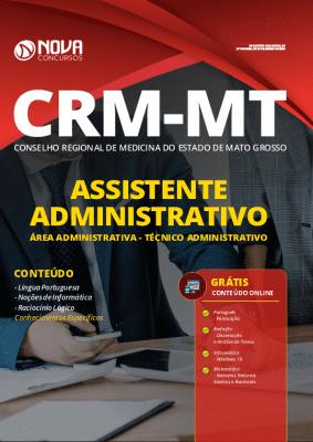 Apostila Concurso CRM MT 2020 PDF Assistente Administrativo Técnico Administrativo Download PDF Grátis Cursos Online