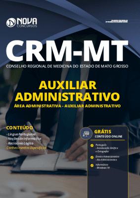 Apostila Concurso CRM MT 2020 PDF Auxiliar Administrativo Download PDF Grátis Cursos Online
