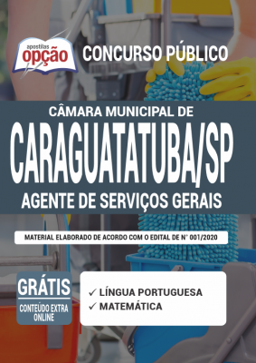 Apostila Câmara de Caraguatatuba SP 2020 PDF Download Digital Cargo Auxiliar de Serviços Gerais