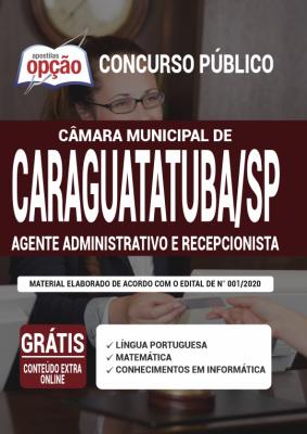 Apostila Concurso Câmara de Caraguatatuba SP 2020 PDF Download Digital Cargos Agente Administrativo e Recepcionista