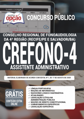 Apostila Crefono 4 2020 PDF Download Digital Cargo Assistente Administrativo