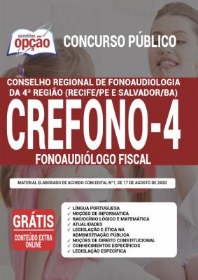 Apostila Crefono 4 2020 PDF e Impressa Cargo Fonoaudiólogo Fiscal