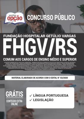Apostila Concurso FHGV RS 2020 PDF Download Digital Cargos de Ensino Médio e Superior