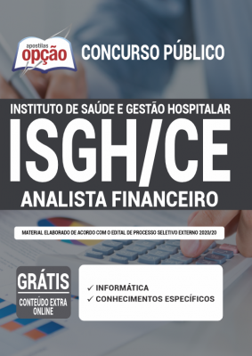 Apostila Concurso ISGH CE 2020 PDF Download Digital Analista Financeiro