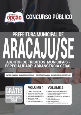 Apostila Concurso Prefeitura de Aracaju 2020 PDF Auditor de Tributos
