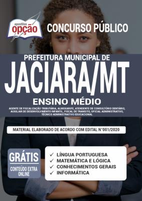Apostila Prefeitura de Jaciara 2020 PDF Download Digital Cargos de Ensino Médio