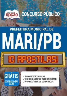 Apostila Concurso Prefeitura de Mari PB 2020 PDF Download