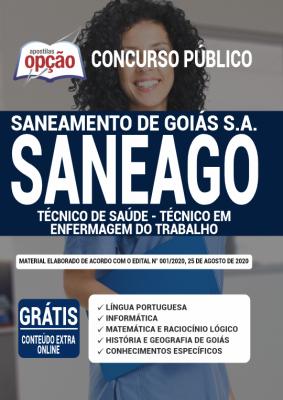 Apostila SANEAGO 2020 PDF Download Cargo Técnico de Saúde Técnico em Enfermagem do Trabalho