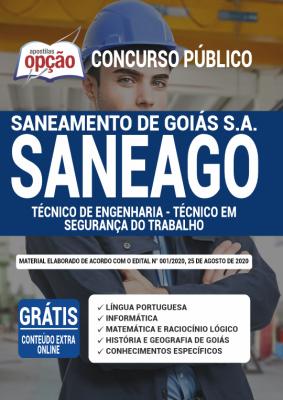 Apostila SANEAGO 2020 PDF Download Cargo Técnico de Engenharia Técnico em Segurança do Trabalho