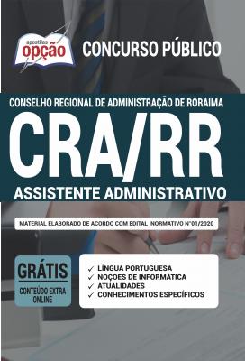 Apostila Concurso CRA RR 2020 PDF Download Assistente Administrativo