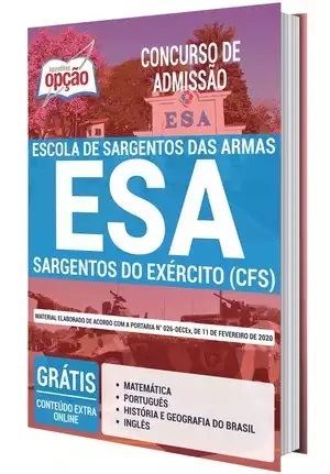 Apostila ESA 2021 PDF Download Sargentos do Exército