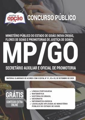 Apostila Concurso MP GO 2020 PDF Oficial de Promotoria e Secretário Auxiliar