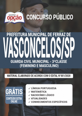 Apostila Concurso GCM Ferraz de Vasconcelos 2020 PDF Download Digital