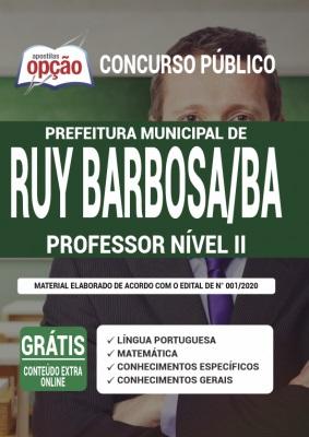 Apostila Prefeitura de Ruy Barbosa BA 2020 PDF Download
