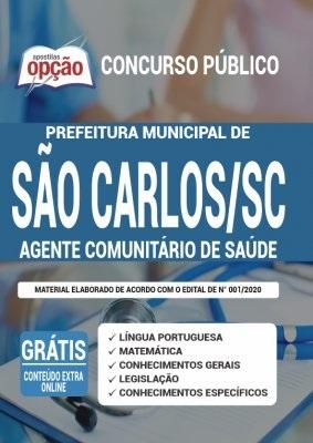Apostila Prefeitura de São Carlos SC 2020 PDF Download Digital Cargo Agente Comunitário de Saúde