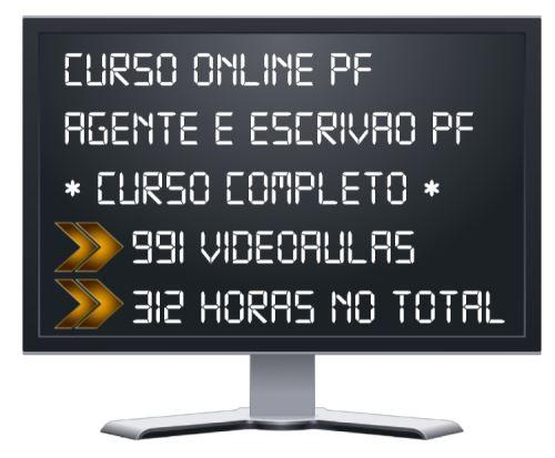 Curso Online PF 2020 Agente Administrativo e Escrivão
