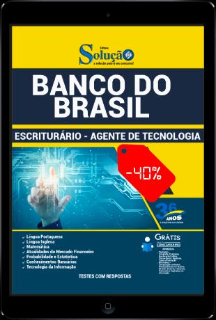 Apostila Banco do Brasil 2021 PDF Escriturário Agente de Tecnologia