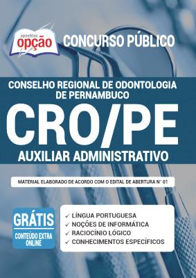 Apostila Concurso CRO PE 2020 PDF Download Auxiliar Administrativo